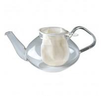 theenet uit katoen wit 11.9cm