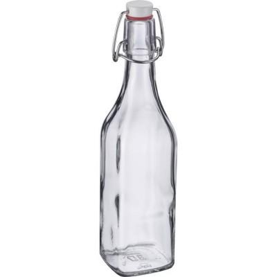 vierkante fles uit glas met beugelsluiting 500ml  Westmark