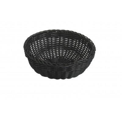 Saleen ronde gevlochten mand uit kunststof zwart Ø 23cm H 9cm  Saleen