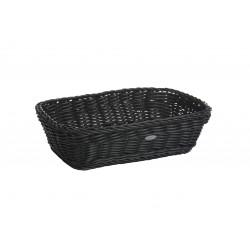 rechthoekige gevlochten mand uit kunststof zwart 31x21x9cm  Saleen