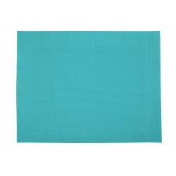 Rahmen fijn geweven placemat uit kunststof aquablauw 32x42cm