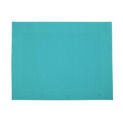 Saleen Rahmen fijn geweven placemat uit kunststof aquablauw 32x42cm