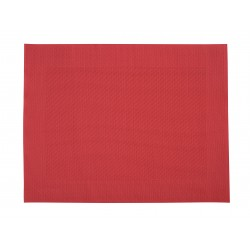 fijn geweven placemat uit kunststof rood 42x32cm