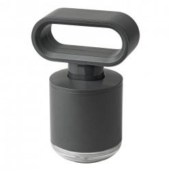 Handpomp voor zeep of alcoholgel - donkergrijs