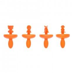Mini ijslollyvorm - Safari - set van 4 stuks Cuisipro