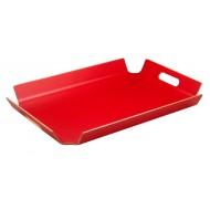 Dienblad met handgrepen rood 55x40x5cm