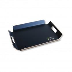 Dienblad met handgrepen zwart 44.5x33.5x4.5cm