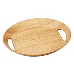 Ovalen dienblad houtkleur 46x41x4cm