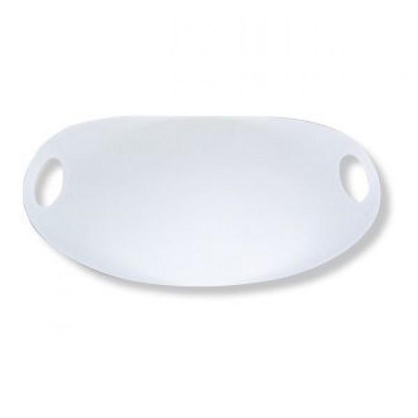 Point-Virgule Point-Virgule ovalen dienblad wit 55x35cm