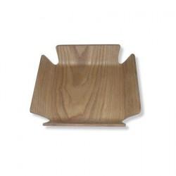 Servethouder houtkleur 15x15x4cm