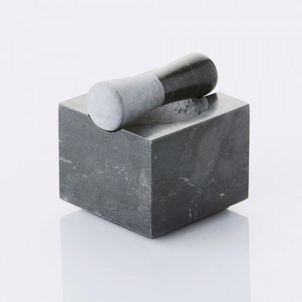 Vijzel & stamper uit gepolijst marmer donkergrijs ø 11.5cm