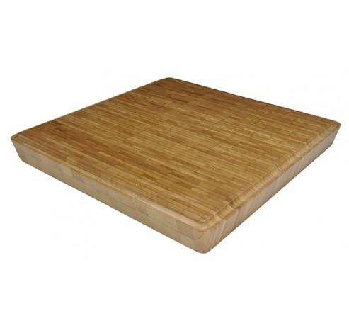 Vierkante hakblok Taoo uit bamboe 30x30x3.5cm  Point-Virgule