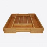 Verstelbare besteklade uit bamboe 40.5x26.5x6.5cm