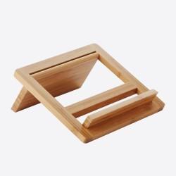 Tablet-/kookboekstaander uit bamboe