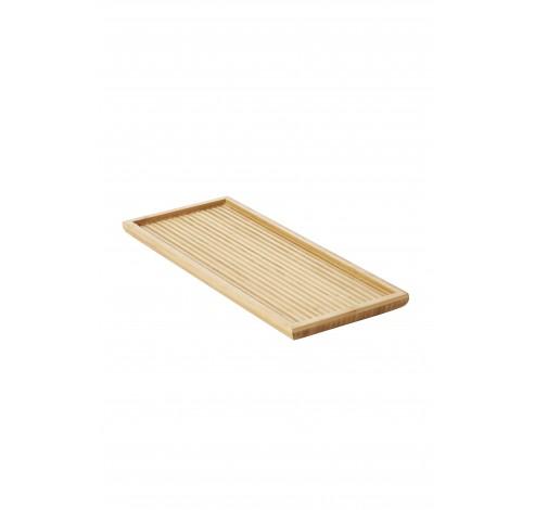 Theedienblad met reliëf uit bamboe klein 38x15.5x2cm  Point-Virgule