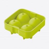 Ijsballenvorm uit silicone voor 4 ijsballen groen ø 6cm