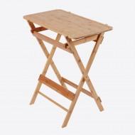 Werktafel uit bamboe met afneembare snijplank 66x40x75cm