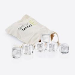 Set van 6 crystalstones met zakje