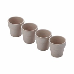 Set van 4 eierdopjes uit bamboevezel cementgrijs