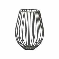 Wire kaarshouder Zwart ø 14cm