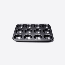 Bakvorm antikleef voor 12 muffins