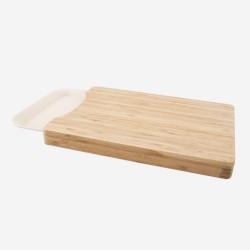 Snijplank met dienblad uit bamboevezel