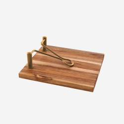 servettenhouder uit acaciahout 20x18.5x6.1cm