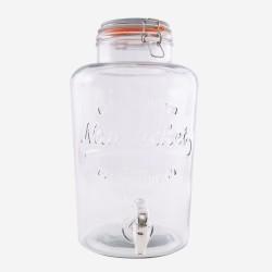 ronde drankdispenser met kunstof kraantje 8L (per 4st.)