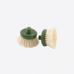 Set van 2 borstelkoppen voor afwasborstel uit bamboe Point-Virgule