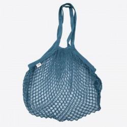 Parijse nettas met lange handvatten donkerblauw