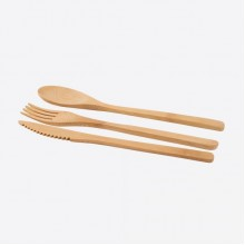 3-delig bestek uit bamboe
