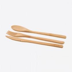 3-delig bestek uit bamboe  Point-Virgule