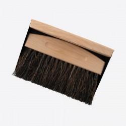 Kruimelveger uit bamboe en paardenhaar met blik zwart 15.5x10.7x4cm Point-Virgule