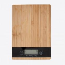 digitale keukenweegschaal uit bamboe  Point-Virgule