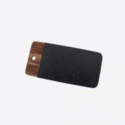 serveerplank uit acaciahout en graniet