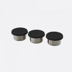 set van 3 voorraaddoosjes met deksel zwart 60ml  Point-Virgule
