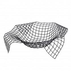 Wire Envelope mand zwart 34x34x8.5cm Point-Virgule