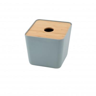 Zakdoekendoos bamboev., bamboe deksel mist bl. by MF 15x15.3x15.5cm  Point-Virgule