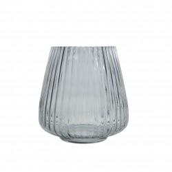 Vaas uit glas blauw Ø 17.7cm H 18cm  Point-Virgule