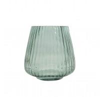 Vaas uit glas groen Ø 17.7cm H 18cm