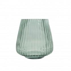 Vase en verre vert Ø 17.7cm H 18cm