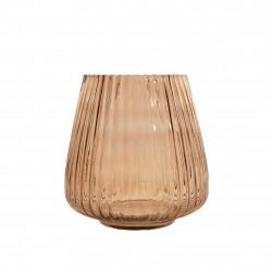 vase en verre moka Ø 17.7cm H 18cm