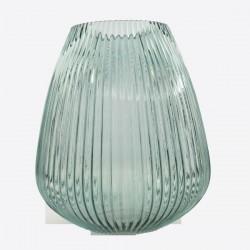 kaarshouder/vaas uit glas groen Ø 24.5cm H 28cm  Point-Virgule