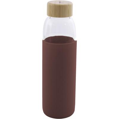 Glazen fles met silicone sleeve framboos 580ml  Point-Virgule