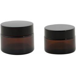 ronde glazen voorraaddoos met silicone deksel saliegroen 620ml  Point-Virgule