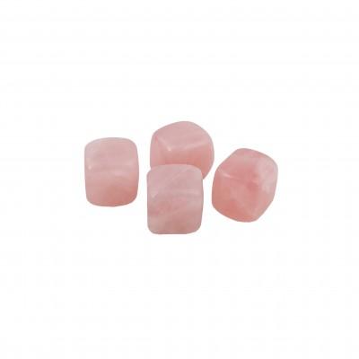 set van 4 herbruikbare ijsblokjes uit jade roze met zakje 1.9x1.9x1.9cm   Point-Virgule
