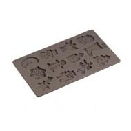 Flexiform bakvorm voor 12 koekjes in winterthema 17x30cm