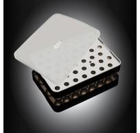 ijsblokjesvorm uit silicone voor ijsparels met deksel zwart ø 2cm