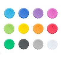 set van 12 gekleurde kroonkurken