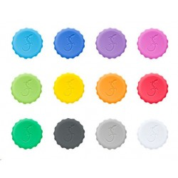 set van 12 gekleurde kroonkurken  Lurch